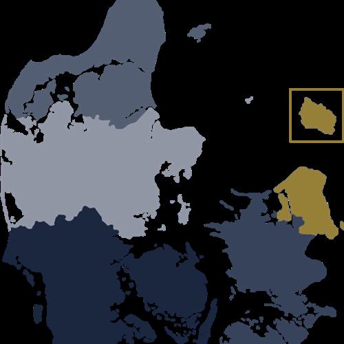 Danrmarkskort Hovedstaden