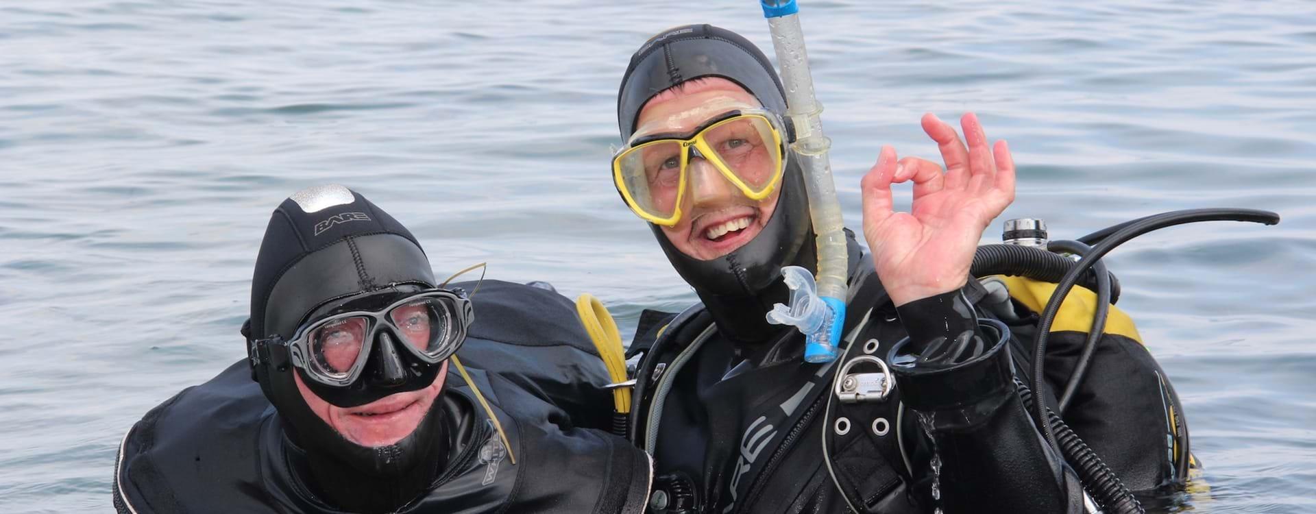 Dykning Peder Og Flemming