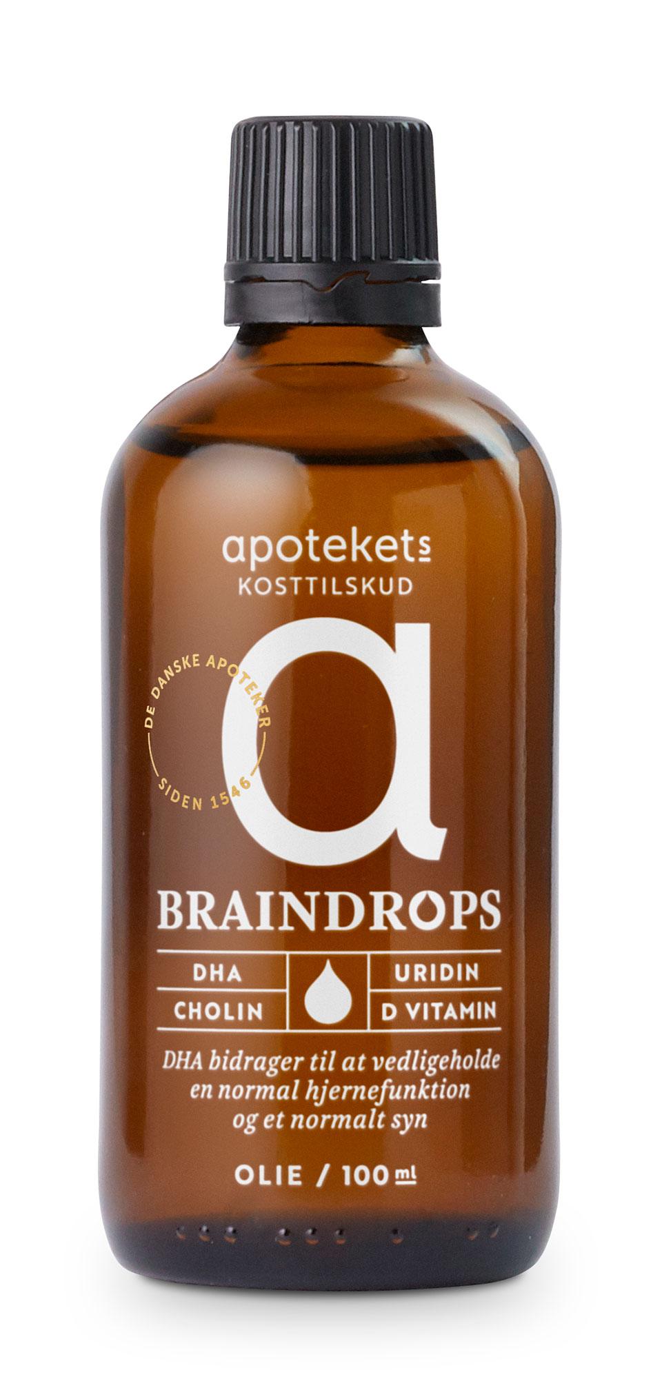 Apotekets Kosttilskud Braindrops 100Ml Flaske