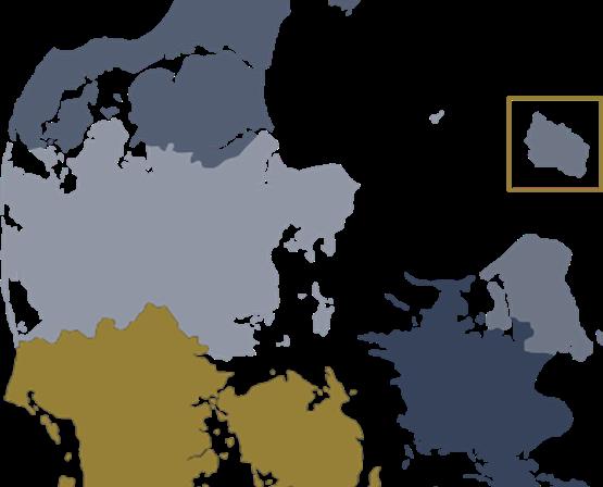 Danrmarkskort Regionsyd